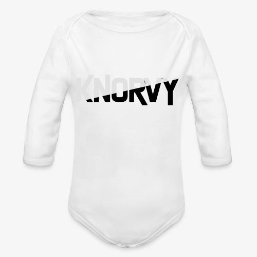 KNORVY - Baby bio-rompertje met lange mouwen