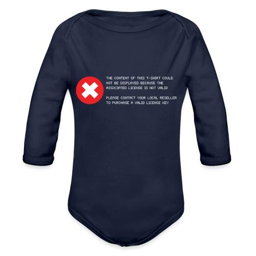 T-shirt Error - Body ecologico per neonato a manica lunga