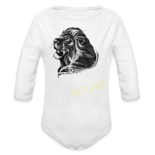 Cecil leeuw op zwart NEW - Organic Longsleeve Baby Bodysuit