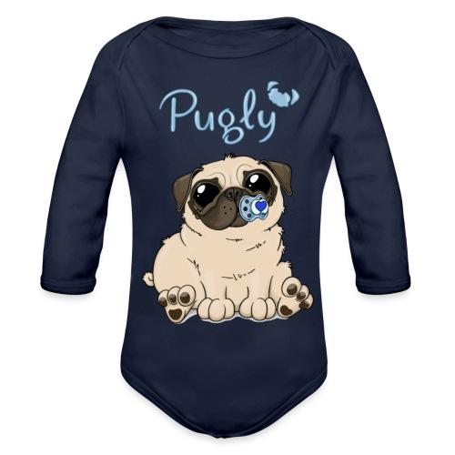 Bobo Pug - Ekologisk långärmad babybody