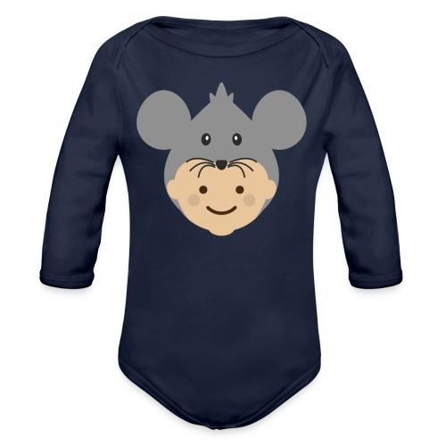 Mr Mousey | Ibbleobble - Organic Longsleeve Baby Bodysuit