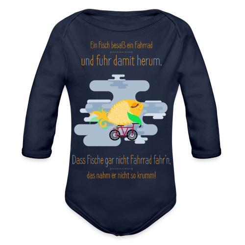 Der Fahrrad-Fisch - Baby Bio-Langarm-Body