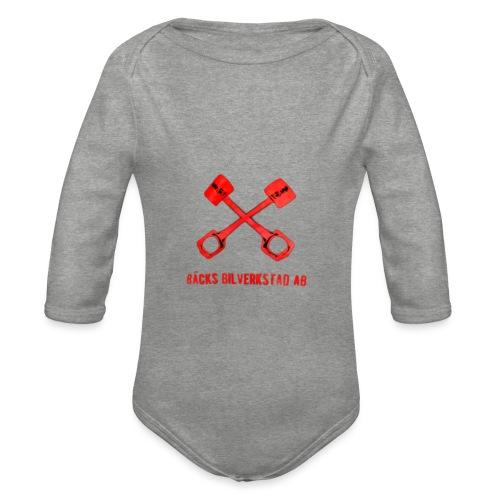 Bäcks bilverkstad - Ekologisk långärmad babybody