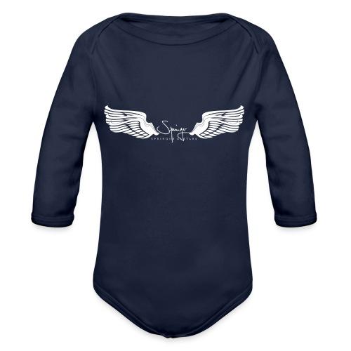 Seraph Wings white - Body Bébé bio manches longues