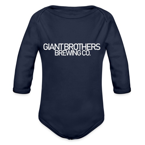 Giant Brothers Brewing co white - Ekologisk långärmad babybody