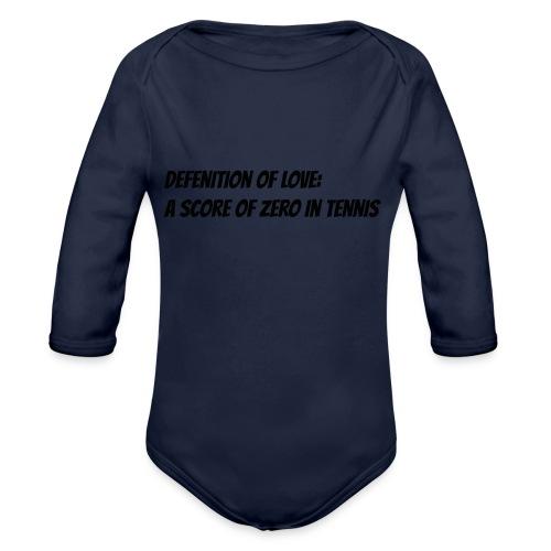 Tennis Love sweater men - Baby bio-rompertje met lange mouwen