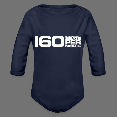 160 BPM (valkoinen pitkä) - Vauvan pitkähihainen luomu-body