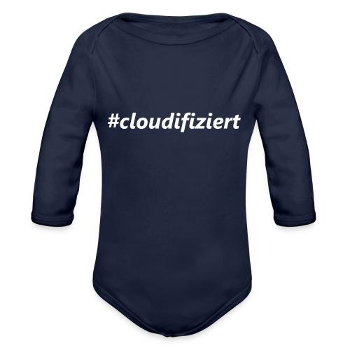 #Cloudifiziert white - Baby Bio-Langarm-Body