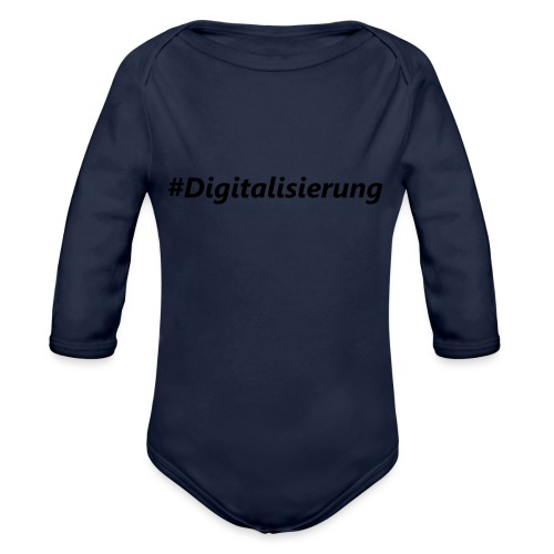 #Digitalisierung black - Baby Bio-Langarm-Body