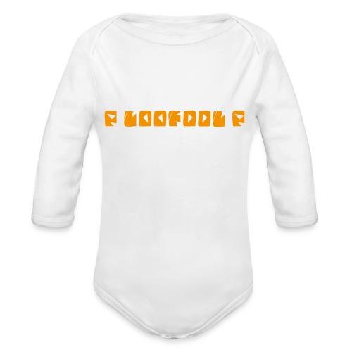 P loofool P - Orange logo - Økologisk langermet baby-body