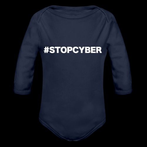 #stopcyber - Baby Bio-Langarm-Body