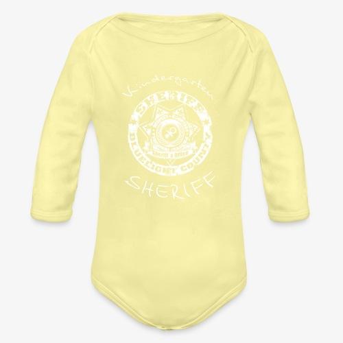 kindergarten sheriff - Baby Bio-Langarm-Body