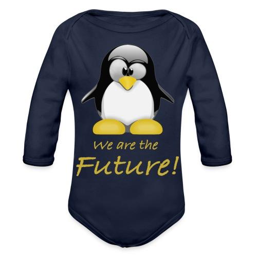 pinguin we are the future - Body ecologico per neonato a manica lunga