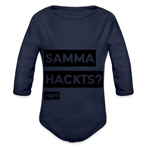 Samma Hackts ft1 (Spruch) - Baby Bio-Langarm-Body