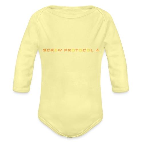ScrewP4 Final - Organic Longsleeve Baby Bodysuit