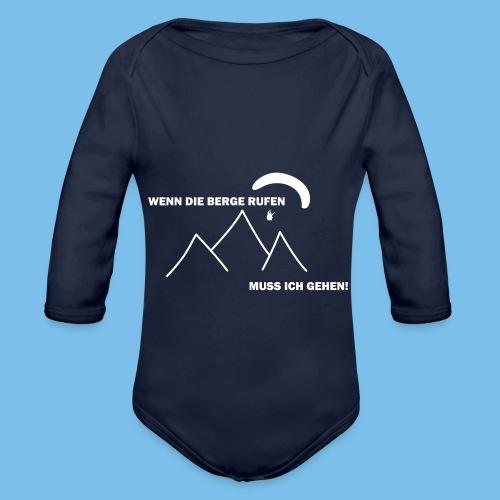 gleitschirmflieger paragliding geschenk tshirt - Baby Bio-Langarm-Body