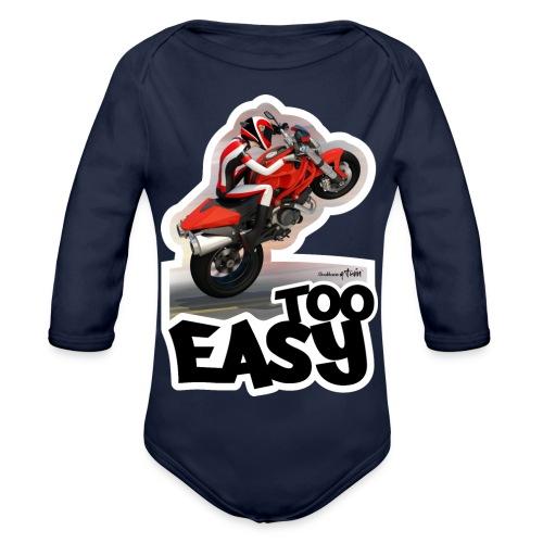 Ducati Monster Wheelie A - Body orgánico de manga larga para bebé