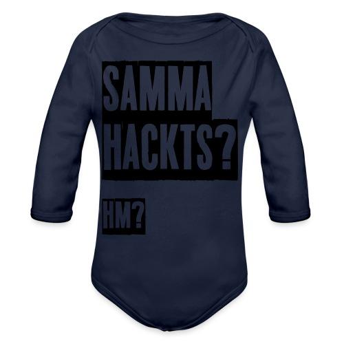 Samma Hackts (Spruch) - Baby Bio-Langarm-Body