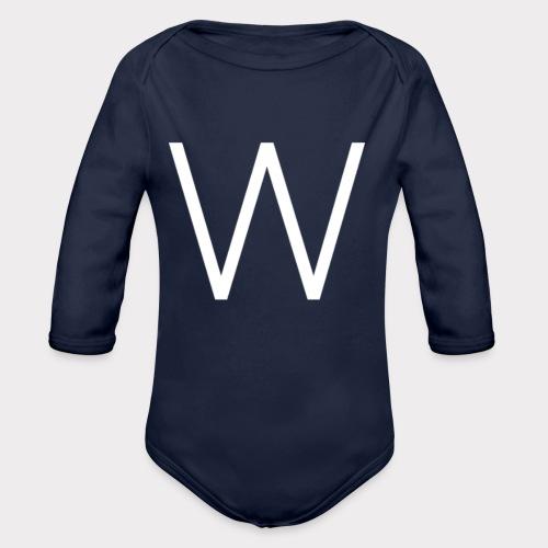 White W - Organic Longsleeve Baby Bodysuit