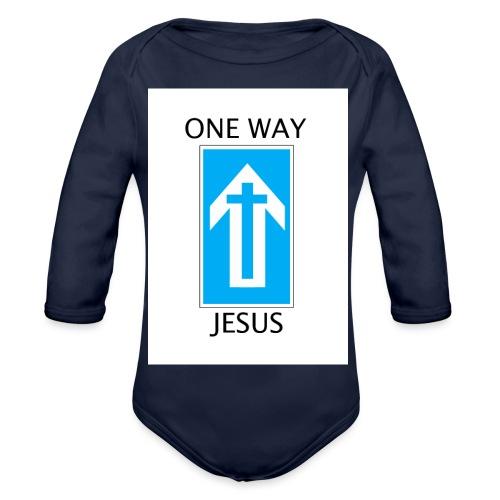 One Way, Jesus - Organic Longsleeve Baby Bodysuit