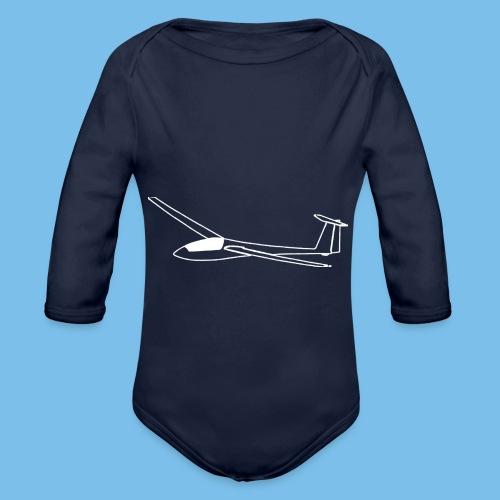 Segelflieger Geschenk Segelflugzeug gleiten tshirt - Baby Bio-Langarm-Body