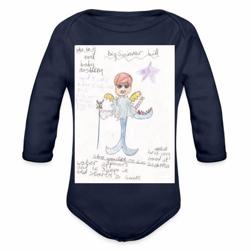 Big Swimmer Bill DHIRT - Organic Longsleeve Baby Bodysuit