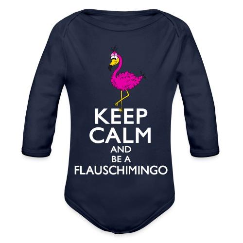 Keep calm and be a Flauschimingo - Baby Bio-Langarm-Body