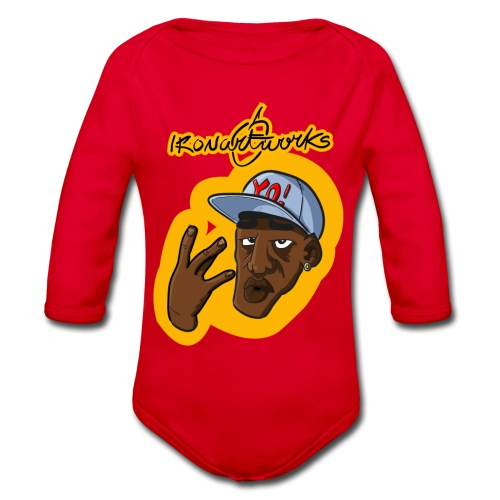 Nigga Rap - Body ecologico per neonato a manica lunga