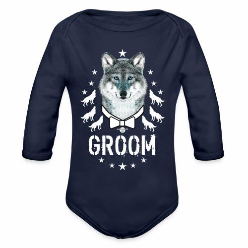 161 Wolf JGA GROOM Wolfpack Sterne - Baby Bio-Langarm-Body
