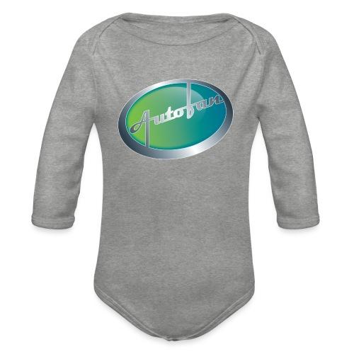 Autofan groen - Baby bio-rompertje met lange mouwen