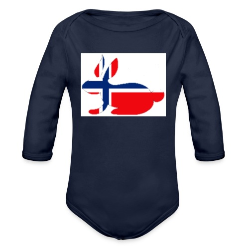 bunny_NY_LOGO_LI - Organic Longsleeve Baby Bodysuit