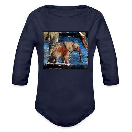 Baby-Elefant - Baby Bio-Langarm-Body