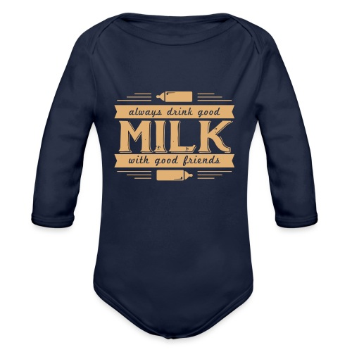 Drink Milk 1 - Baby Bio-Langarm-Body