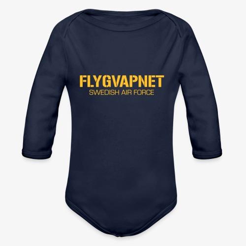 FLYGVAPNET - SWEDISH AIR FORCE - Ekologisk långärmad babybody