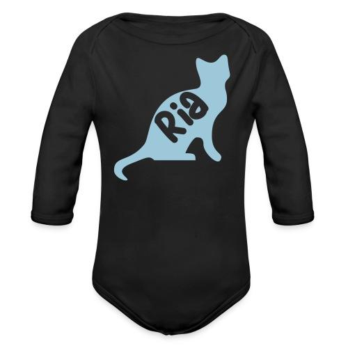 Team Ria Cat - Organic Longsleeve Baby Bodysuit
