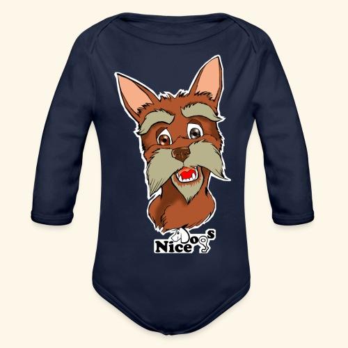 Nice Dogs schnauzer 2 - Body ecologico per neonato a manica lunga