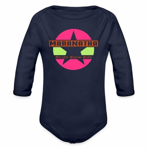maranatha rosa-grün - Baby Bio-Langarm-Body