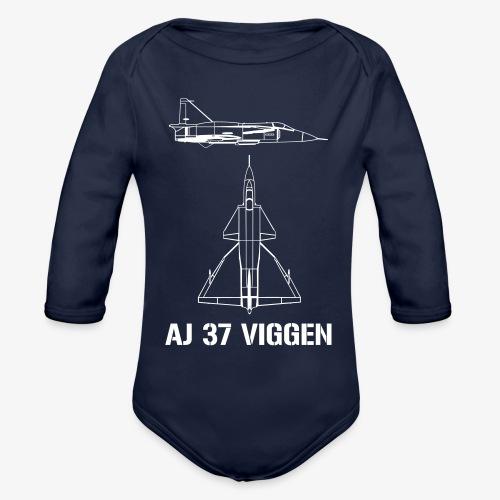 AJ 37 VIGGEN - Ekologisk långärmad babybody