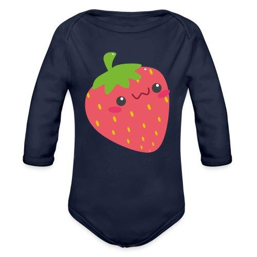 Erdbeere - Baby Bio-Langarm-Body