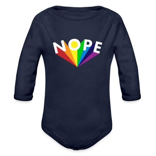 Nope Nö Nein als Regenbogen - Baby Bio-Langarm-Body