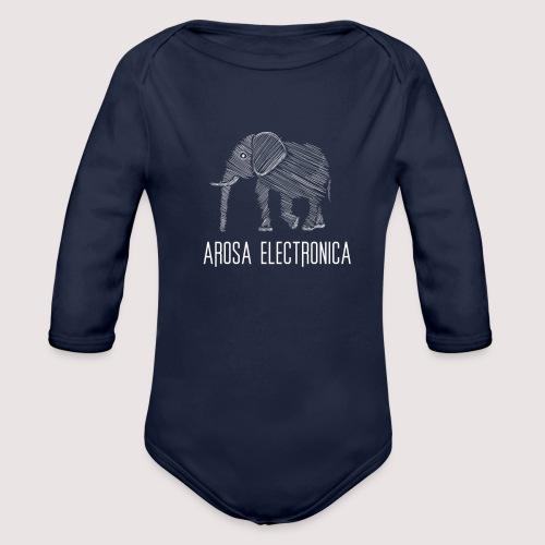 Elefant Weiss - Baby Bio-Langarm-Body