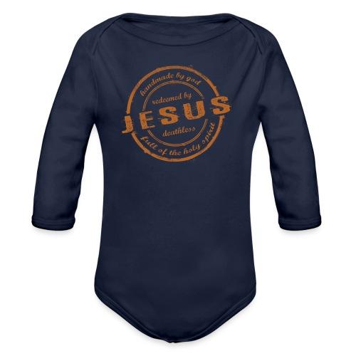 Redeemed by Jesus - Baby Bio-Langarm-Body