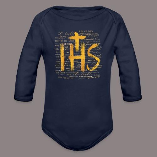 IHS (Christusmonogramm) - Baby Bio-Langarm-Body