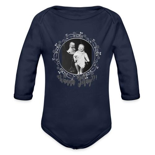 Wanna play - Organic Longsleeve Baby Bodysuit