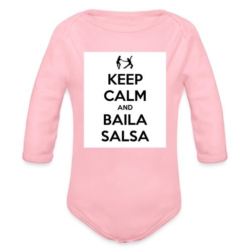 keep-calm-and-baila-salsa-41 - Body ecologico per neonato a manica lunga