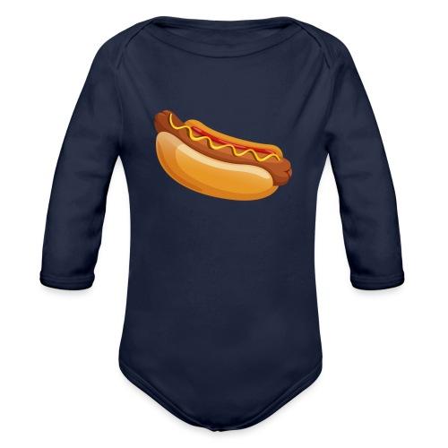 hotdog - Baby bio-rompertje met lange mouwen