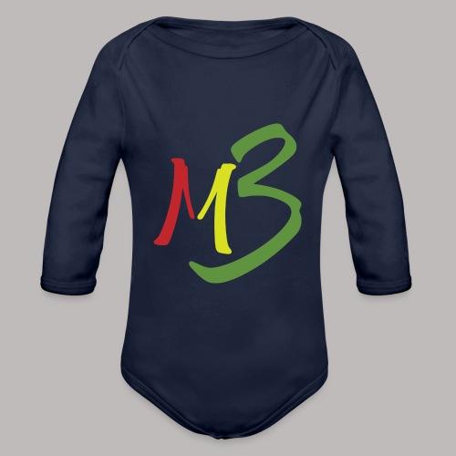 MB13 Logo rasta1 - Organic Longsleeve Baby Bodysuit