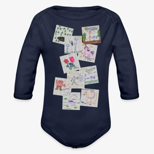 Drawings - Organic Longsleeve Baby Bodysuit