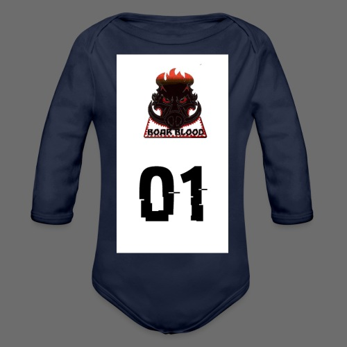 Boar blood 01 - Ekologiczne body niemowlęce z długim rękawem