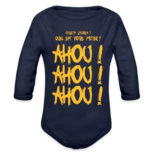 Gilets jaunes Ahou Ahou Ahou - Body Bébé bio manches longues